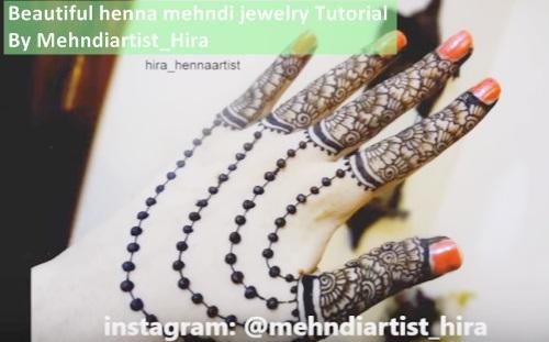 Beautiful Henna Mehndi Jewellery : India mehndi henna jewellery design