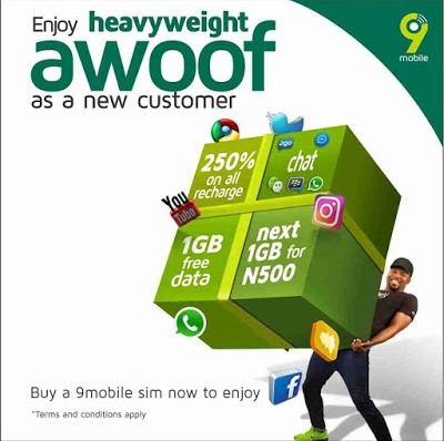 9Mobile Heavyweight Awoof Promo Gives You 10x Bonus on Your First Recharge.