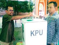 Walikota Bima Ikut Coblos Ulang di TPS 29 Jatiwangi