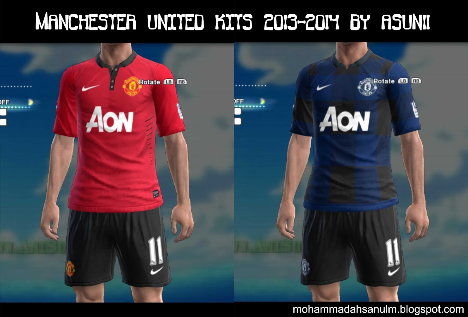 Pes-modif: Download Manchester United Kits 13-14 By Asun11