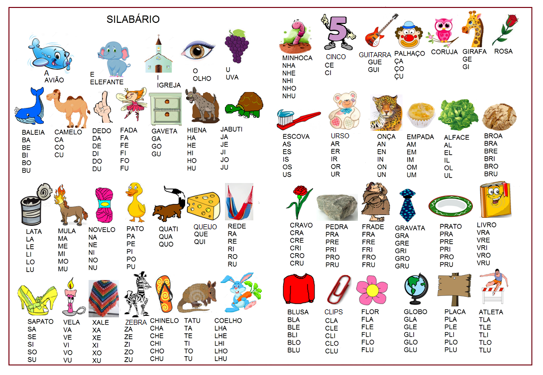 Silabarios Alfabeticos Para Imprimir Formato Word Aula Virtual