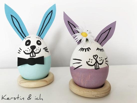 Ostern, kreative Ostereier, Kinder Ostereier, Hase