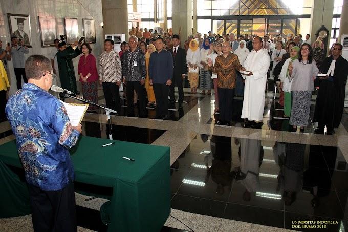 Rektor UI Kembali Lantik 4 Dekan Fakultas