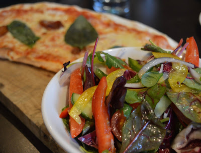 Family Dining at Fratello's, Jesmond - A review - Light option half pizza and salad