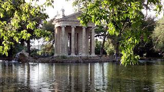 VIlla Borghese lago templo esculapio - Villa Borghese com guia em português