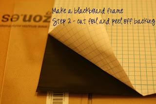 Step 2 cut foil and peek off backing