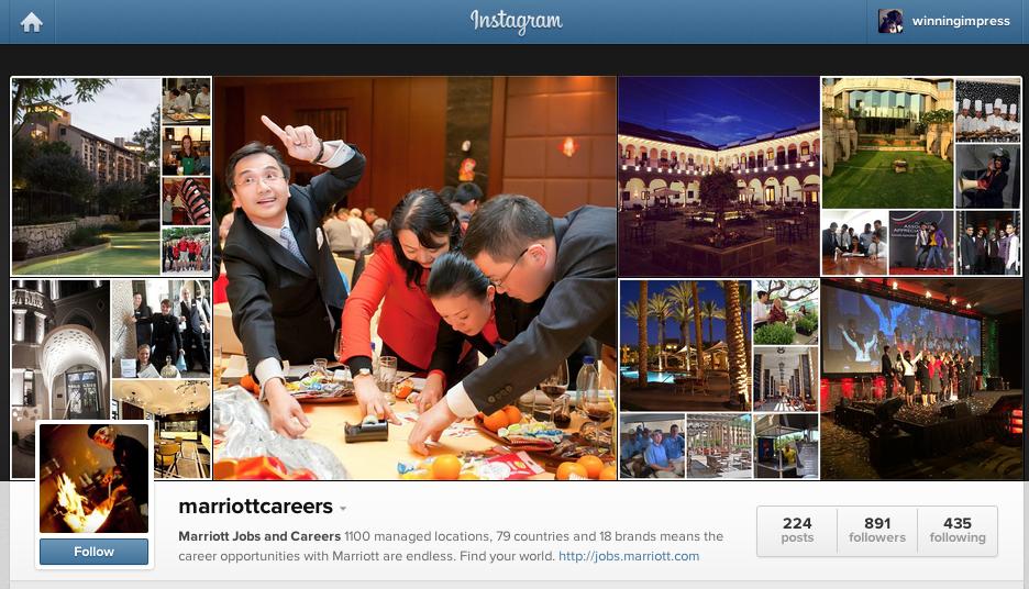 Instagrami Yetenek Arayisi Icin Etkin Olarak Kullanmak marriott jobs and careers
