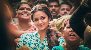 Keerthy Suresh in Blue Dress with Cute and Lovely Smile