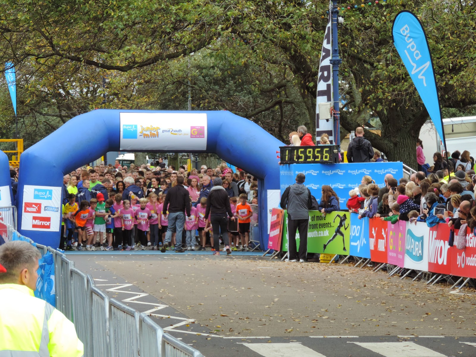 bupa 1.5 k mini run race portsmouth