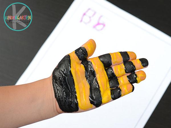 Bee handprint Art
