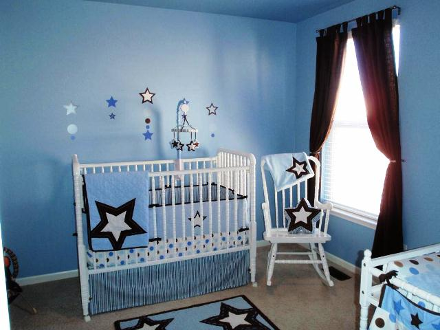 blue paint for baby boy room