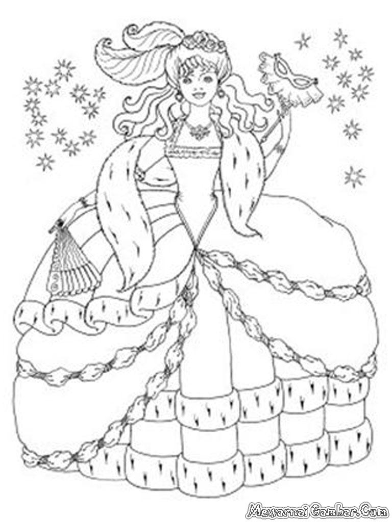 Gambar Barbie And The Diamond Castle Untuk Diwarnai