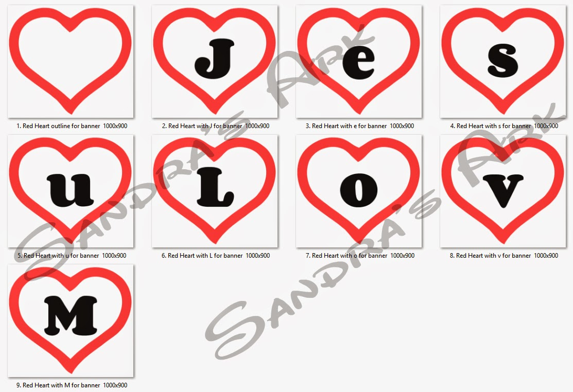I Used Ipiccy To Make Pictures Of The Hearts With Letters Inside Them Some Are Repeated In Phrase So Did Not Have Do Every