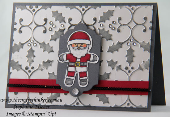 Stampin' Blends, #xmascard, #stampinup, #thecraftythinker, Christmas card, Cookie Cutter Christmas, Stampin' Up Australia Demonstrator, Stephanie Fischer, Sydney NSW