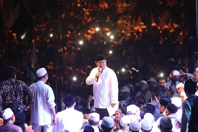 Ribuan Santri dan Ulama Deklarasi Dukung Prabowo-Sandi