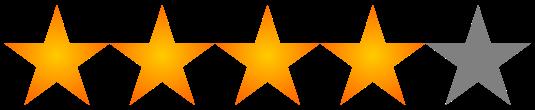 Resultado de imagen para 4 de 5 estrellas