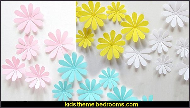 daisy 3d Flower Wall Stickers Decor Art Decorations