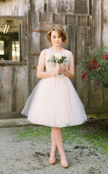 لباس عروس قصيرة
