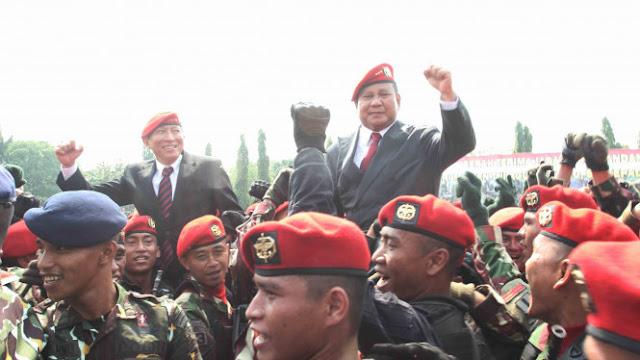 Prabowo: Sekarang Terasa Pentingnya TNI Berantas Terorisme