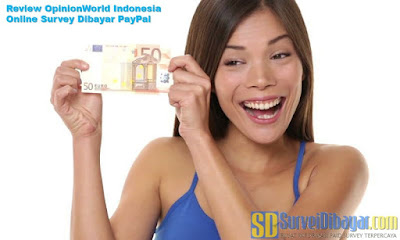 Review OpinionWorld Indonesia Online Survey Dibayar PayPal | SurveiDibayar.com