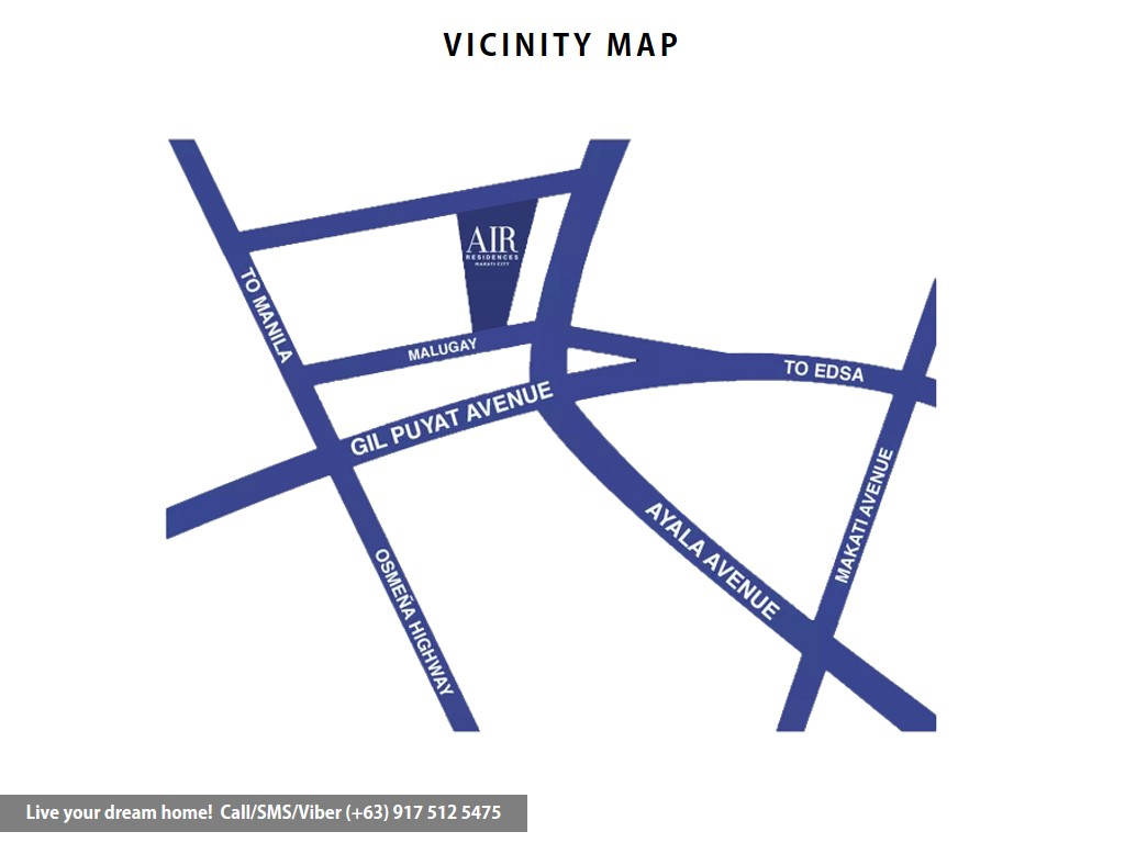 Vicinity Map - SMDC Air Residences - Studio With Balcony | Condominium for Sale Makati City