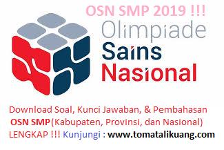 Soal & Pembahasan OSK OSP OSN Matematika SMP 2019 (LENGKAP)