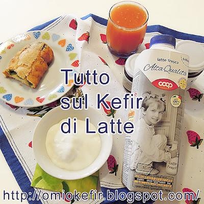 Kefir di latte spuntino spezza fame a merenda