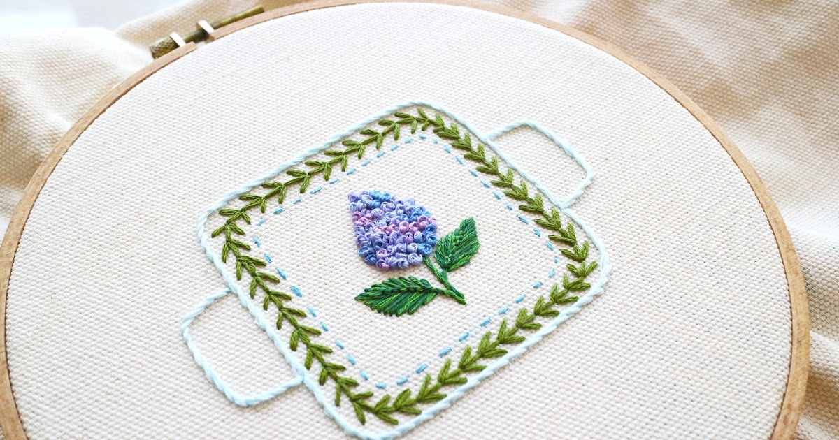 Fern stitch portmeirion bowl embroidery