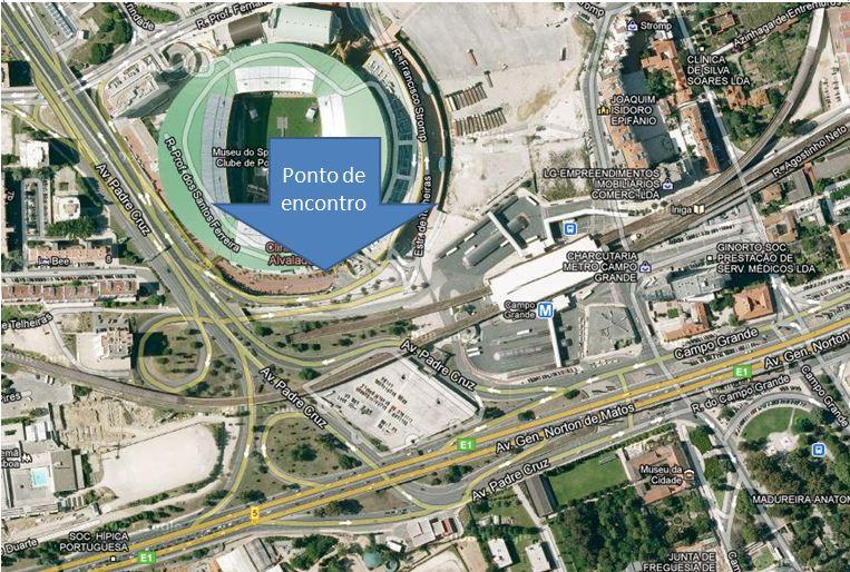 estadio jose alvalade mapa Pernas de Gafanhoto: Corrida do Sporting 2012   Ponto de encontro estadio jose alvalade mapa