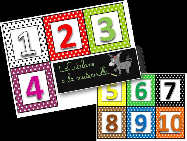 Etiquettes nombres réglettes Cuisenaire (LaCatalane)