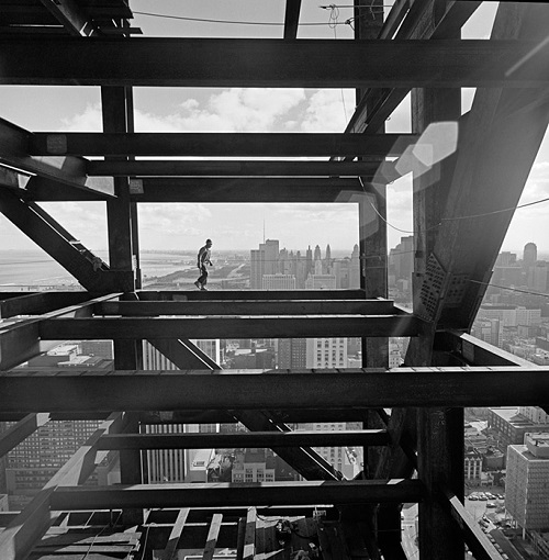 "Ezra Stoller, ""John Hancock Chicago construction"", Chicago, IL, 1967."