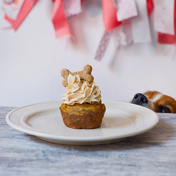 Peanut Butter Frosted Pupcake (Dog Cupcake)