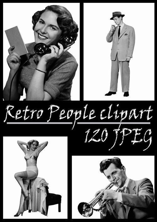 Клипарты «Люди – РЕТРО»