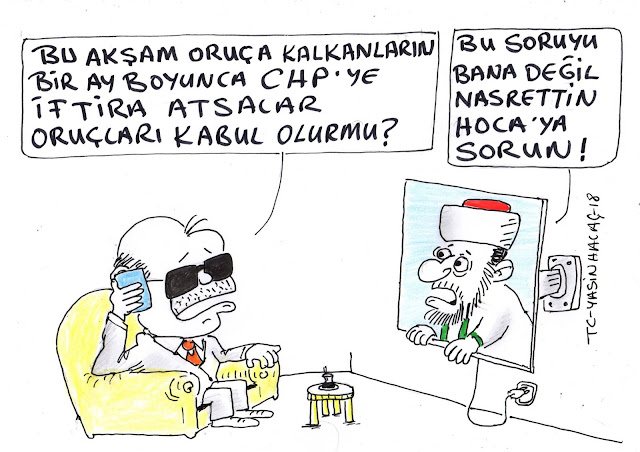 oruç chp iftira karikatür