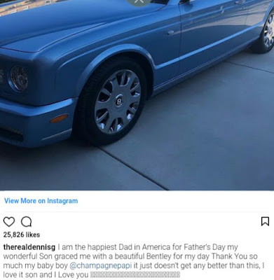 Babymamas Drag Father's Day, Musician Gifts Dad New Bentley To Mark Father's Day