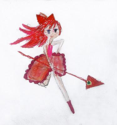 """детский рисунок """"фея Огня"""""""