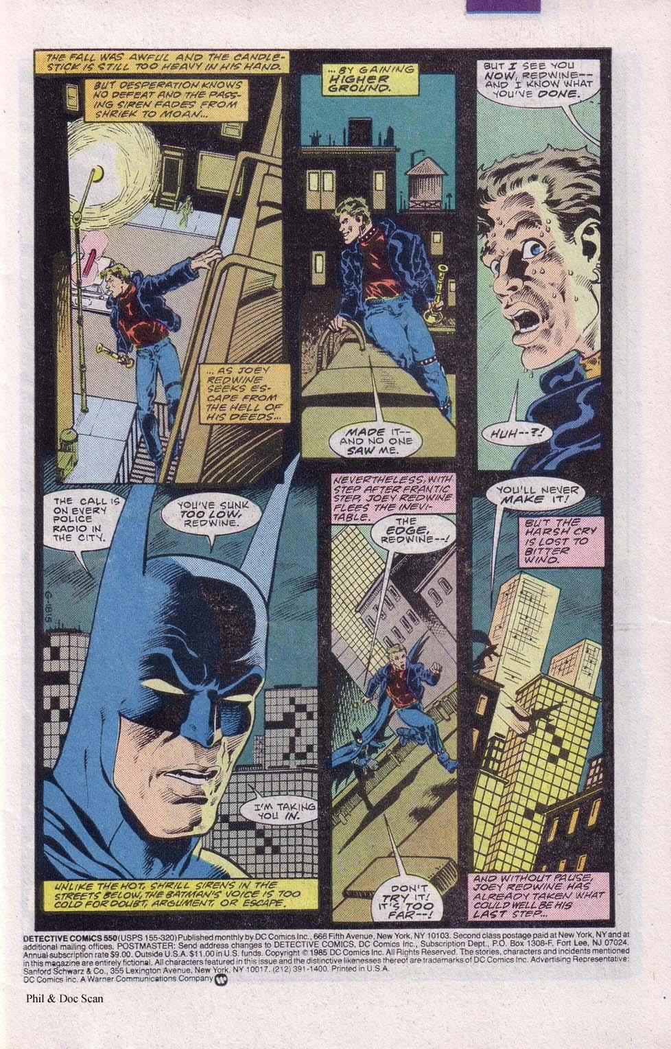 Detective Comics (1937) 550 Page 1