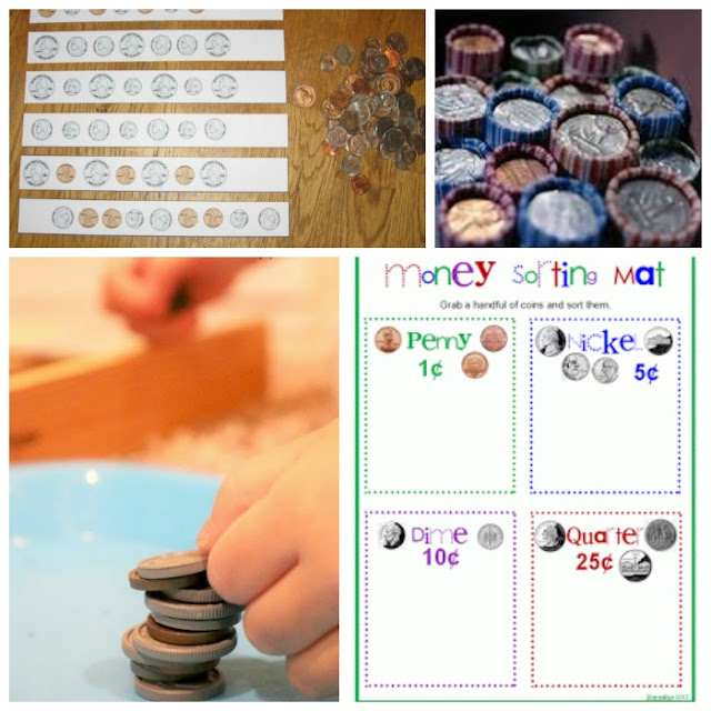 Math Coin Activities for Preschool and Kindergarten