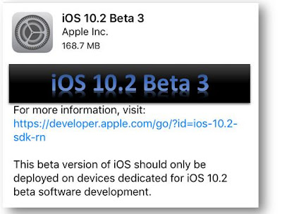 Apple has also released iOS 10.2 beta 3 with a build number 14C5077b introducing few new features with bug fixes and enhancements like SOS feature, new TV App, new emoji, new wallpapers