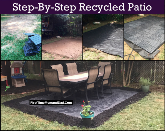 Easy Diy Recycled Rubber Patio First