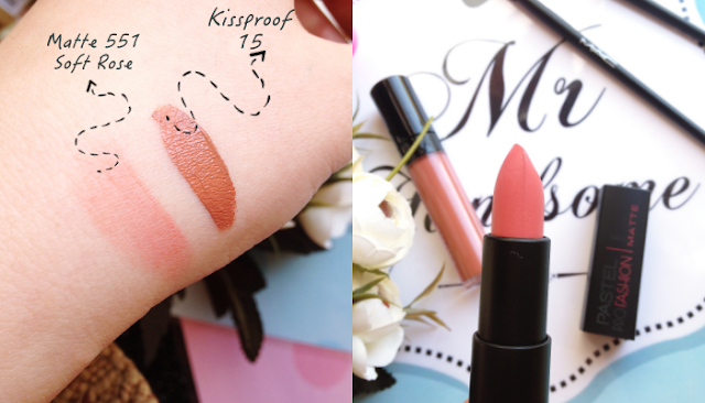 Pastel  Day Long Lipcolor Kissproof 15 | Pastel Profashion Matte Lipstick - 551 Soft Rose