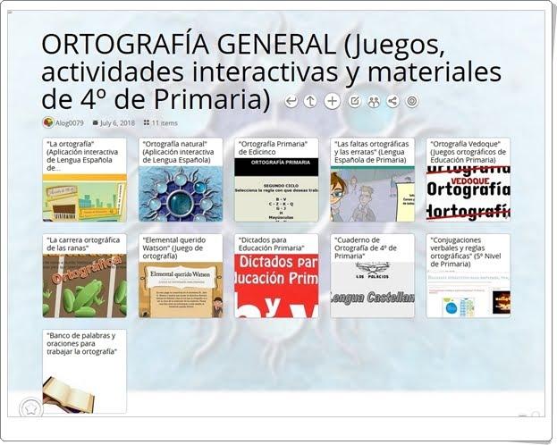 """""""11 Juegos, actividades interactivas y materiales sobre ORTOGRAFÍA GENERAL de 4º de Primaria"""""""