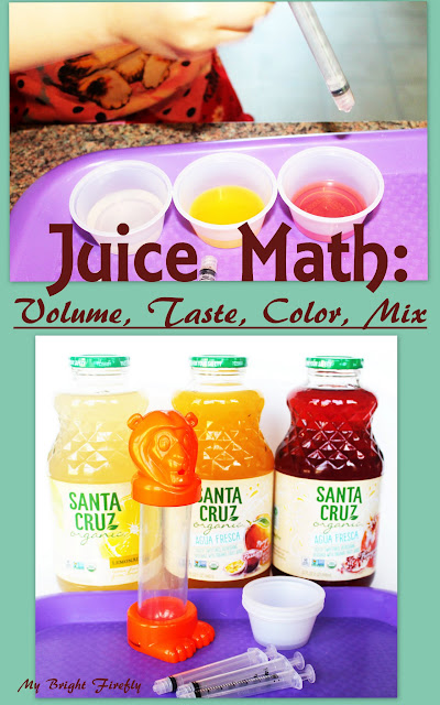 Tasty Volumes of Juice: Measure Liquids Math Activities for Kids.