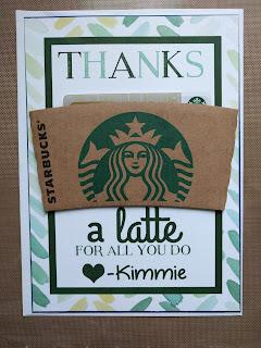 Magnolia Paper Design Megan Houghton Thanks a latte gift printable starbucks giftcard