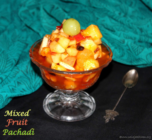 images of Sweet Mixed Fruit Pachadi Recipe / Kalyana Sweet Pachadi Recipe / Sweet Fruit Relish