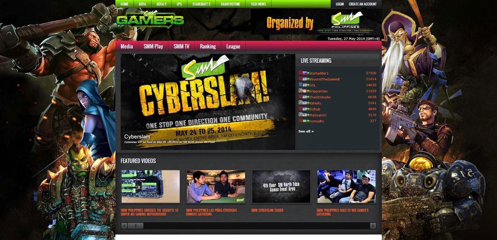 SMM Gamers Web Portal