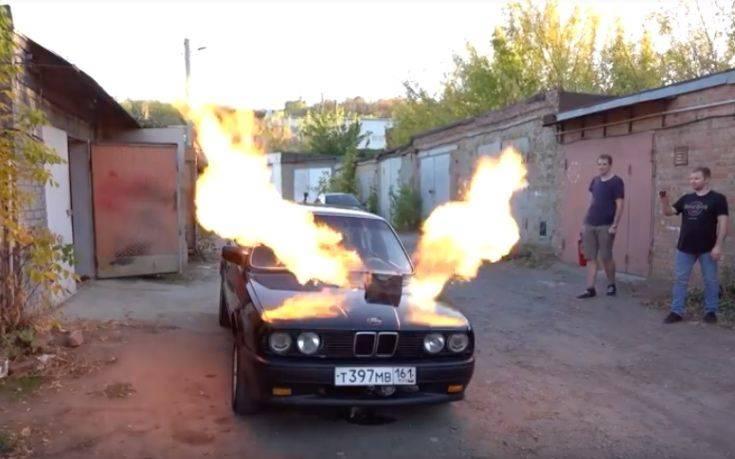 Ρώσος έβαλε τουρμπίνα από MIG-23 σε παλιά BMW!