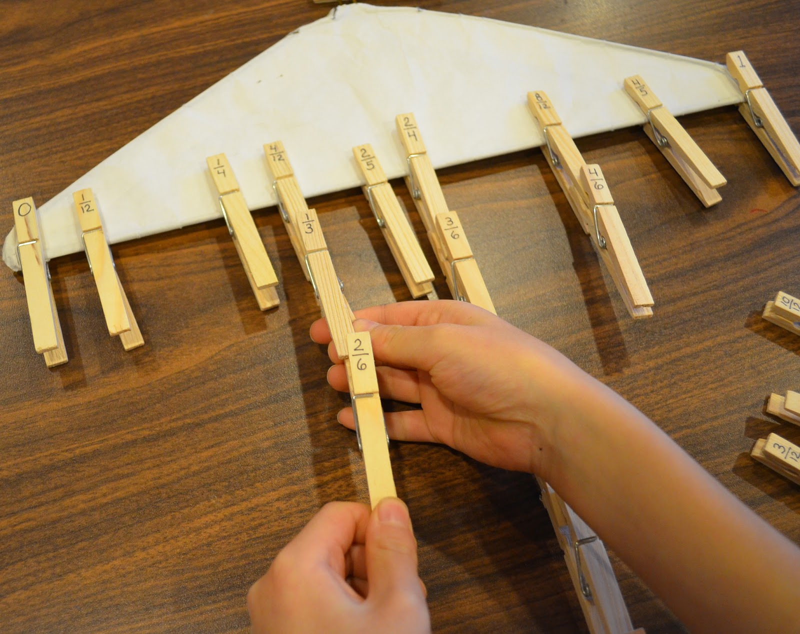 Love2learn2day Clothespin Fractions