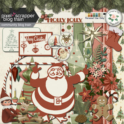 December Blog Train at Pixel Scrapper