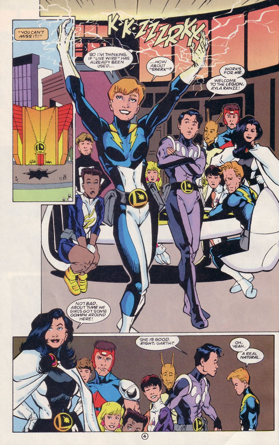 Legion of Super-Heroes (1989) 64 Page 4